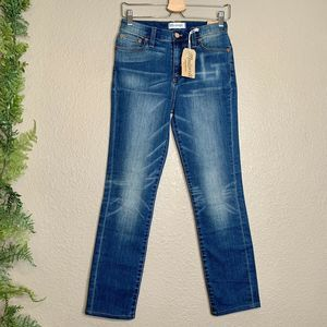 NWT Madewell High Rise Alley Straight Jeans 27